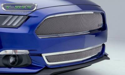 T-REX Grilles - 2015-2017 Mustang GT Upper Class Bumper Grille, Polished, 1 Pc, Overlay - PN #55530 - Image 3