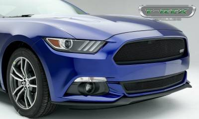 T-REX Grilles - 2015-2017 Mustang GT Upper Class Series Main Grille, Black, 1 Pc, Overlay, Full Opening - PN #51530 - Image 3