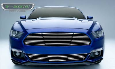 Laser Billet Grilles - T-REX Grilles - Ford Mustang GT - Laser Billet Grille - Main, Replacement  with Polished Face - Pt # 6215300