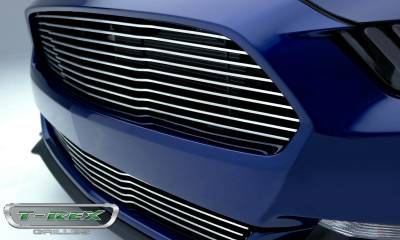 T-REX Grilles - 2015-2017 Mustang GT Laser Billet Grille, Polished, 1 Pc, Replacement - PN #6215300 - Image 5