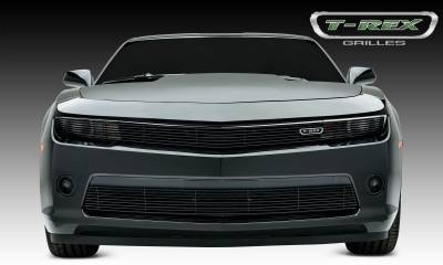 Billet Series Grilles - Chevrolet Camaro SS Billet, Main Phantom Grille, Overlay, 1 Pc,  Black Powdercoated Aluminum Bars - Pt # 21032b