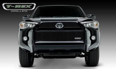 Billet Series Grilles - T-REX Grilles - Toyota 4 Runner Billet Grille, Main & Bumper, Overlay, 3 Pc's, Black Powdercoated Aluminum Bars, Fits Trail & SR5 but not Limited - Pt # 21949B