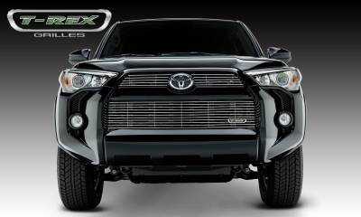 Clearance - T-REX Grilles - Toyota 4 Runner Billet Grille, Main & Bumper, Overlay, 3 Pc's, Polished Powdercoated Aluminum Bars, Fits Trail & SR5 but not Limited - Pt # 21949