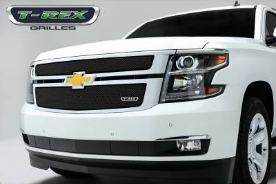 Sport Series Grilles - T-REX Grilles - Chevrolet Suburban, Tahoe Sport Series Formed Mesh Grille - ALL Black Powdercoat - 2 Pc - Pt # 46055