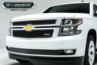 Upper Class Series Grilles - T-REX Grilles - Chevrolet Suburban, Tahoe Upper Class Mesh Grille - All Black - 2 Pc Style - Pt # 51055