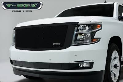 Upper Class Series Grilles - T-REX Grilles - Chevrolet Suburban, Tahoe Upper Class,Formed Mesh Grille, Main, Replacement, 1 Pc, Black Powdercoated Mild Steel - Pt # 51056