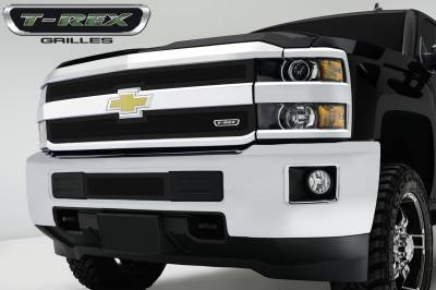 Upper Class Series Grilles - T-REX Chevrolet Silverado HD Upper Class Mesh Grille - All Black - 2 Pc Style - Pt # 51122