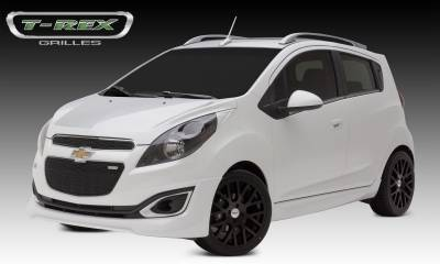 Upper Class Series Grilles - T-REX Chevrolet Spark Upper Class Stainless Mesh Grille - 2 Pc's Top & Bottom - All Black - Pt # 51129