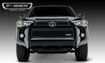 Upper Class Series Grilles - T-REX Toyota 4 Runner Upper Class, Formed Mesh Grille, Main & Bumper Kit, Overlay, 3 Pc's, Black Powdercoated Mild Steel - Pt # 51949