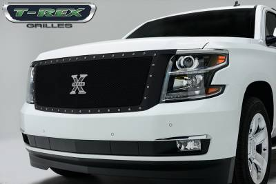 X-Metal Series Grilles - Chevrolet Suburban, Tahoe  X-Metal,Formed Mesh Grille, Main, Replacement, 1 Pc, Black Powdercoated Mild Steel - Pt # 6710561