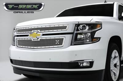 T-REX Grilles - 2015-2020 Suburban and Tahoe LT, LTZ X-Metal Grille, Polished, 2 Pc, Overlay, Chrome Studs - PN #6710550 - Image 1