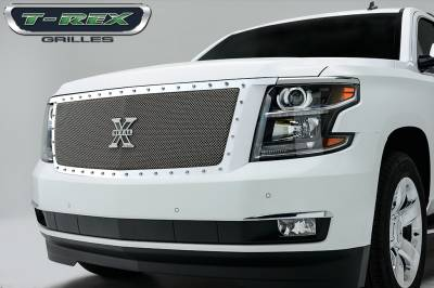 T-REX Grilles - 2015-2019 Chev Sub/Tahoe LT, LTZ X-Metal Grille, Polished, 1 Pc, Replacement, Chrome Studs - PN #6710560 - Image 1