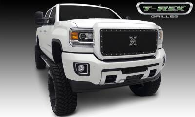 X-Metal Series Grilles - GMC Sierra HD  X-Metal, Formed Mesh Grille, Main, Insert, 1 Pc, Black Powdercoated Mild Steel - Pt # 6712111