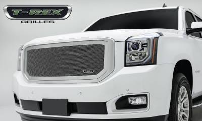 Upper Class Series Grilles - T-REX Grilles - GMC YUKON Upper Class Polished Stainless Mesh Grille - Pt # 54169
