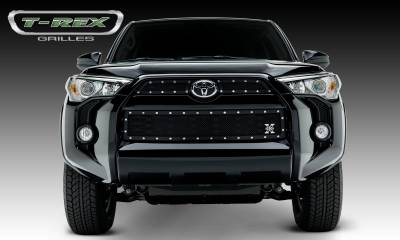 X-Metal Series Grilles - T-REX Grilles - Toyota 4 Runner X-Metal, Formed Mesh Grille, Main & Bumper Kit, Overlay, 3 Pc's, Black Powdercoated Mild Steel - Pt # 6719491
