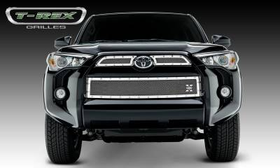 X-Metal Series Grilles - T-REX Grilles - Toyota 4 Runner X-Metal, Formed Mesh Grille, Main & Bumper Kit, Overlay, 3 Pc's, Polished Stainless Steel - Pt # 6719490