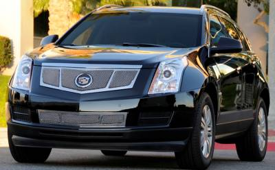 T-REX Grilles - 2010-2016 Cadillac SRX Upper Class Grille, Black, 1 Pc, Replacement, 3 Window Design, with OE Logo Plate - PN #51187
