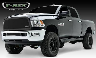 T-REX Grilles - Dodge Ram PU 2500 / 3500 Upper Class, Formed Mesh Grille, Main, Replacement, 1 Pc, Black Powdercoated Mild Steel - Pt # 51452