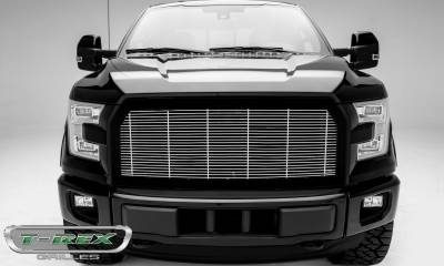 T-REX Grilles - 2015-2017 F-150 Billet Grille with frame, Polished, 1 Pc, Replacement,  - PN #58573