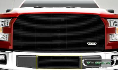 Billet Series Grilles - Ford F-150 - Billet Series - Bumper Grille with Black Powdercoat Finish - Pt # 25573B