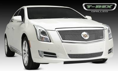 Upper Class Series Grilles - T-REX Cadillac XTS Upper Class, Formed Mesh Grille, Main, Full Opening, Overlay, 1 Pc, Polished Stainless Steel Will not fit Platinum Edition. - Pt # 54173