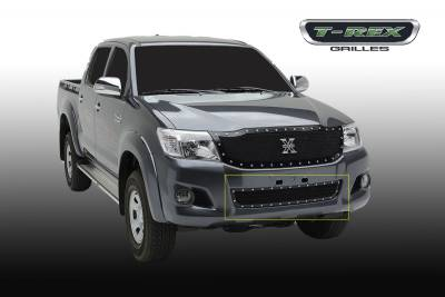 X-Metal Series Grilles - T-REX Toyota Hilux X-METAL, Formed Mesh Grille, Bumper, Replacement, 1 Pc, Black Powdercoated Mild Steel - Pt # 6729091