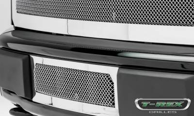 T-REX Grilles - 2015-2017 F-150 Upper Class Bumper Grille, Polished, 1 Pc, Insert, Eco Boost - PN #55573 - Image 2
