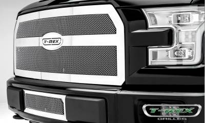T-REX Grilles - 2015-2017 F-150 Upper Class Series Bumper Grille, Polished, 1 Pc, Insert, Eco Boost - PN #55573 - Image 3