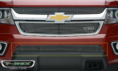 T-REX Grilles - 2015-2019 Chev Colorado Billet Bumper Grille, Polished, 1 Pc, Overlay - PN #25267