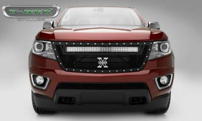 T-REX Grilles - 2015-2020 Colorado Torch Grille, Black, 1 Pc, Replacement, Chrome Studs, Incl. 30 Inch LED - PN #6312671 - Image 4