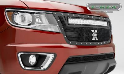 T-REX Grilles - 2015-2020 Colorado Torch Grille, Black, 1 Pc, Replacement, Chrome Studs, Incl. 30 Inch LED - PN #6312671 - Image 6
