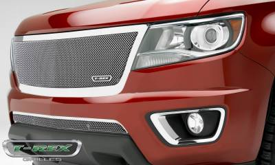 T-REX Grilles - 2015-2019 Chev Colorado Upper Class Grille, Polished, 1 Pc, Replacement, Full Opening - PN #54267
