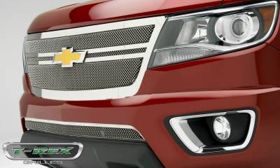 T-REX Grilles - 2015-2019 Chev Colorado Upper Class Grille, Polished, 1 Pc, Replacement,  Center 2 Bar Design - PN #54268 - Image 1