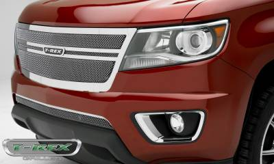 T-REX Grilles - 2015-2019 Chev Colorado Upper Class Grille, Polished, 1 Pc, Replacement,  Center 2 Bar Design - PN #54268 - Image 2