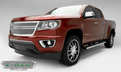 T-REX Grilles - 2015-2019 Chev Colorado Upper Class Grille, Polished, 1 Pc, Replacement,  Center 2 Bar Design - PN #54268 - Image 3