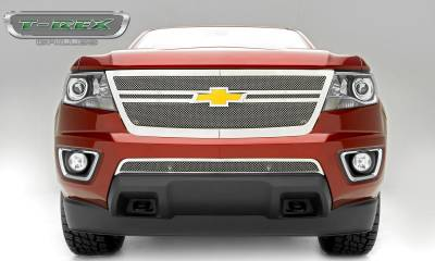 T-REX Grilles - 2015-2019 Chev Colorado Upper Class Grille, Polished, 1 Pc, Replacement,  Center 2 Bar Design - PN #54268 - Image 5