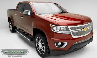 T-REX Grilles - 2015-2019 Chev Colorado Upper Class Grille, Polished, 1 Pc, Replacement,  Center 2 Bar Design - PN #54268 - Image 6