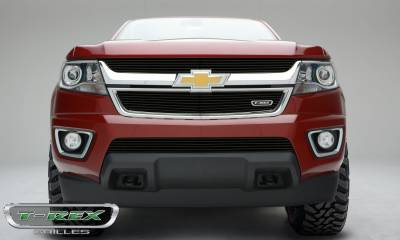 Billet Series Grilles - Chevrolet Colorado - Billet Series - Main Grille - Overlay with Black Powdercoat Finish - Pt # 21267B