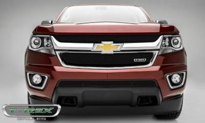 Sport Series Grilles - T-REX Chevrolet Colorado - Sport Series - Main Grille Mesh Overlay  with Black Powdercoat Finish - Pt # 46267