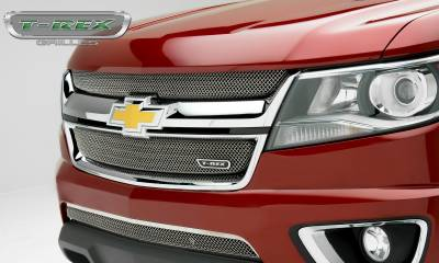 Sport Series Grilles - T-REX Grilles - Chevrolet Colorado - Sport Series - Main Grille Mesh Overlay  with Chrome Plated Finish - Pt # 44267