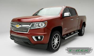 T-REX Grilles - 2015-2019 Chev Colorado Sport Grille, Chrome, 2 Pc, Overlay - PN #44267 - Image 2