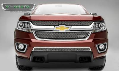 T-REX Grilles - 2015-2019 Chev Colorado Sport Grille, Chrome, 2 Pc, Overlay - PN #44267 - Image 4