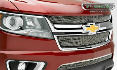 T-REX Grilles - 2015-2019 Chev Colorado Sport Grille, Chrome, 2 Pc, Overlay - PN #44267 - Image 6