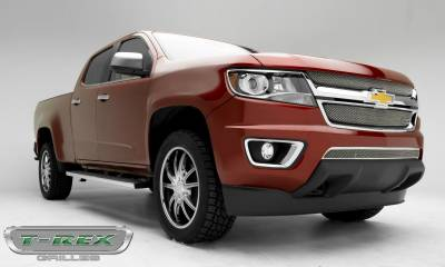 T-REX Grilles - 2015-2019 Chev Colorado Sport Grille, Chrome, 2 Pc, Overlay - PN #44267 - Image 8