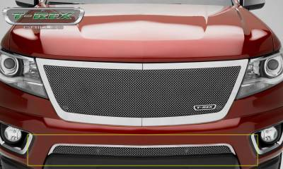 T-REX Grilles - 2015-2019 Chev Colorado Upper Class Bumper Grille, Polished, 1 Pc, Overlay - PN #55267
