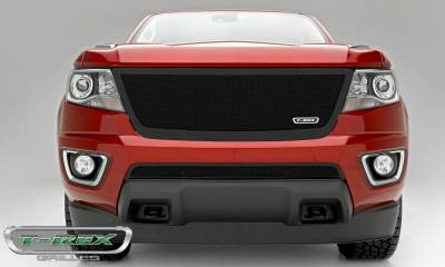 T-REX Grilles - Chevrolet Colorado - Upper Class Series - Full Opening - Replacement Main Grille with Black Powdercoat Finish - Pt # 51267