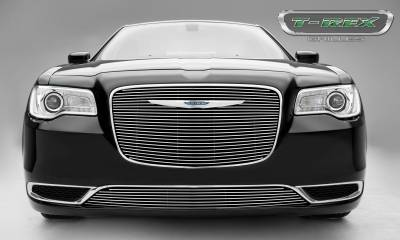Billet Series Grilles - Chrysler 300 - Billet Series - Main Grille Overlay with Black Powder Coat Aluminum Bars and Polished Face - Pt # 21436