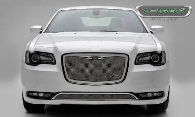 T-REX Grilles - Chrysler 300 - Upper Class Series - Main Grille Replacement with Polished Stainless Steel - Pt # 54436