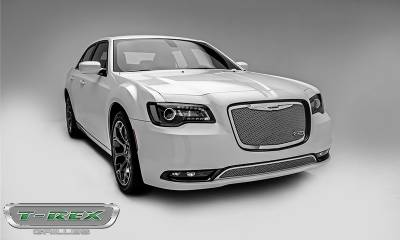T-REX Grilles - 2015-2018 Chrysler 300 Upper Class Grille, Polished, 1 Pc, Replacement - PN #54436 - Image 2