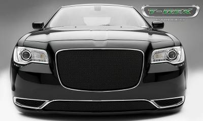 Sport Series Grilles - T-REX Grilles - Chrysler 300 - Sport Series - Main Grille Overlay  with Black Powder Coat Finish - Pt # 46436